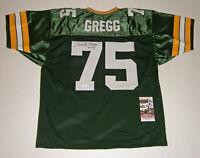 PACKERS Forrest Gregg signed custom jersey w/ HOF 77 JSA COA Autograph Green Bay
