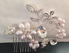 Bridal Wedding Handmade Crystal Pearl Luxury Hair Clip Comb