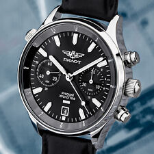 Poljot 3133 Hand Wound Civil Mechanical Chronograph Aviator Watch Watch Pilot