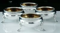 4 Antique Silver Salt Cellars, Thomas White, London 1879