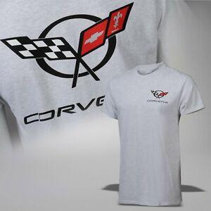 1997-2004 Corvette C5 Men's Classic Crossed Flags T-Shirt 637667