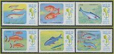 LAOS N°493/498** poissons, 1983 Mekong River Fish MNH