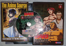Baki the Grappler - Vol (Round) 8 - A Brother's War oop Anime DVD with insert