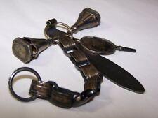 Châtelaine 18ème argent cachets et clef de montre 18thC wax seal fobwatch key