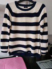 ladies striped jumper size small