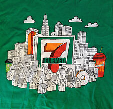 NOS Rare 7-ELEVEN Good Neighbor T-SHIRT Pop Art SKYLINE Size Small NEW Vintage