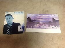 2 Matthew Ryan Cd lp Promo Posters ryan adams Vintage music r .