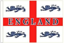 England 4 Lions Sleeved Courtesy Flag ideal for Boats 45cm x 30cm