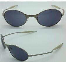 NEW Oakley T Wire Sunglasses Oval Vintage Grey 1990's Titanium Silver RX E Wire