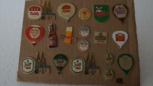 Verschiedene Brauerei Pins 18 Stück Extra für Sammler zb: Früh / Peters Kölsch