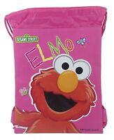 Elmo Drawstring String Backpack Sling Tote Bag - Pink