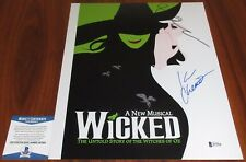 Idina Menzel & Kristin Chenowith Signed 11x14 Wicked Elphaba Glinda Beckett BAS