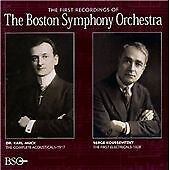 "CD BSO CLASSICS 171002 ""The First Recordings Of The Boston Symphony Orchestra"""