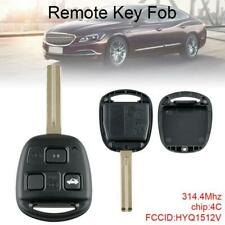 3 Button Uncut Ignition Master Key Fob Keyless 4C Chip HYQ1512V Fit for Lexus