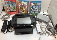 Nintendo Wii U Console System Bundle 2 Remote New Super Mario Bros X2 & 3D World