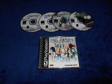 Final Fantasy IX 9 Game & Case Playstation PS1 Black Label Good