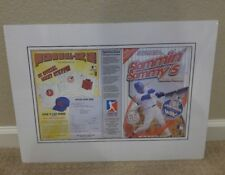 1999 Chicago Cubs Baseball Slammin' Sammy Sosa Frosted Flakes Box Matted Cereal
