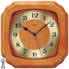 AMS 5866/9 Funk Wanduhr Kirschbaumfarben Uhren-neu