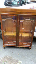 VERY NICE MAHOGANY CHINA /DISPLAY  CABINET 1930?