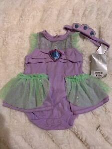 New Disney Store Baby Ariel The little mermaid bodysuit costume 3-6 months