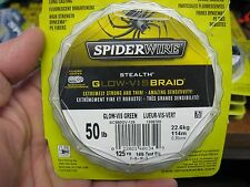 SpiderWire Stealth Braid Braided Fishing Line / Glow Vis Green / 50 Lb 125 Yards