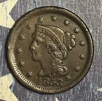 1853 Braided Hair Large Cent Collector Coin for your Collection or Set.
