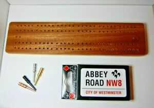 NEW: mahogany cribbage board + pegs & cards