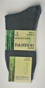 Men's Socks Calf Length Bamboo Silk Soft Breathable Anti Bacterial Comfortable