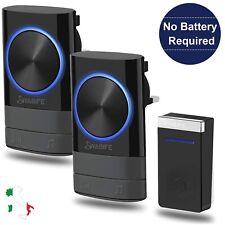 Campanello Senza Fili WIFI Wireless Impermeabile Led 300 Metri,45 Suonerie, Casa