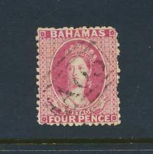 BAHAMAS 1863, 4d P12½ WMK CC, VF USED SG#27 (SEE BELOW