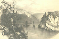 Late 19th Century Graphite Drawing - Riverside View