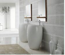 """Bathroom Pedestal Sink - Vinci - Modern Bathroom Pedestal Sink Vanity 19"""""""