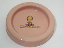 VINTAGE RARE PINK ENAMELWARE KOCKUMS SWEDEN HUMPTY DUMPTY KIDS CHILD DISH PLATE