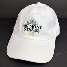 Belmont Stakes 150 Horse Racing Baseball Hat White Adjustable Back