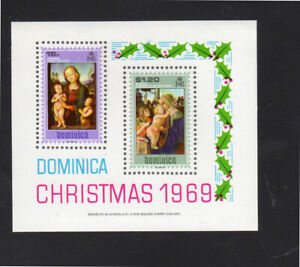 DOMINICA #290a  1969   CHRISTMAS  MINT  VF NH  O.G  S/S
