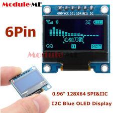 "0.96/"" 128x64 pantalla OLED I2C SPI Módulo para Arduino Blanco//Azul//Amarillo soldado"