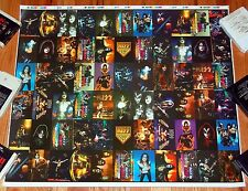 KISS 1974-1996 Photo Uncut Phone Card Sheet PROOF Poster 1997 Simmons Frehley