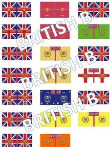 1/72 Napoleonic British B Flags lot