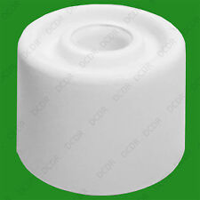 "32mm (1.2"" ) White Plastic Floor Cylinder Wedge Door Stop, Skirting Stop Guard"