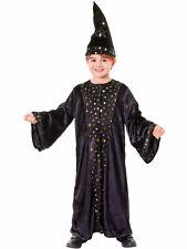 Childs Deluxe Wizard Costume Boys Girls Magician Fancy Dress Book Week medium