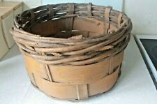 More details for vintage wicker matia locatelli gorgonzola cheese basket - leco italy- 14 x 8 inc