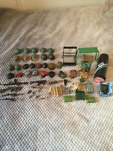 Vintage Action Man Job Lot Hats Weapons and Accessories