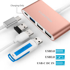 LENTION USB C to USB 3.0 Hub PD Power Adapter for 2020 MacBook Air/Pro Dell XPS