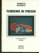 TEOREMA DI POESIA  CARMELO ALIBERTI TODARIANA 1974 LA SCACCHIERA