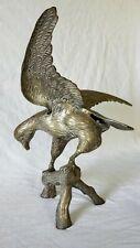 Lrg Vintage Brass Soaring Bald Eagle Statue USA Bird Pride Strength Native 1776