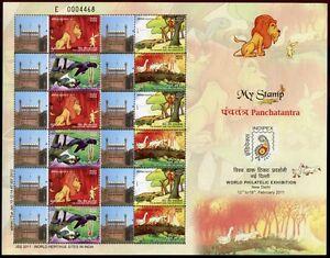 Indien India 2011 Comics Cartoons Löwe Tiere INDIPEX Kleinbogen Postfrisch