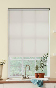 """Cream Light Filtering Cordless Fade resistant Roller Shades 35 1/4"""" W x 72"""" L"""
