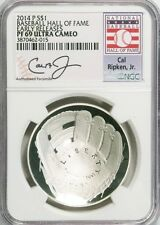 2014-P $1 Baseball Hall of Fame Cal Ripken Jr. NGC PF-69(Proof)UC Early Releases