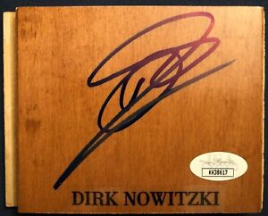 "Dirk Nowitzki Signed Autograph Floorboard 4.5""x3.5"" Dallas Mavericks HOF COA JSA"