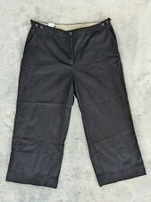 Land's End Size 16 Women's Black Cropped Capri High Rise Pants EUC